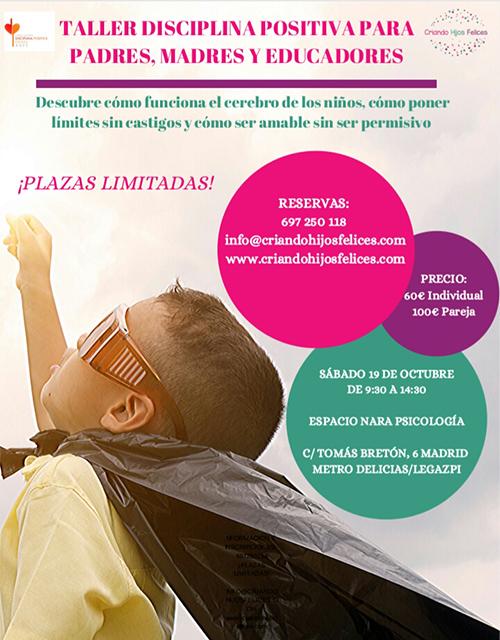 TALLER DE DISCIPLINA POSITIVA PARA PADRES, MADRES Y EDUCADORES